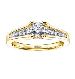 Maple Leaf Diamonds 18K Yellow Gold (0.50ct) Canadian Diamond Engagement Ring