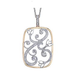 Maple Leaf Diamonds Rose and White Gold Canadian Diamond Pendant