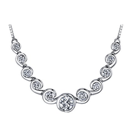 Maple Leaf Diamonds White Gold Elements of Love (1.00ct) Canadian Diamond Necklace