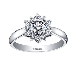 Maple Leaf Diamonds 18K White Gold (0.60ct) Canadian Diamond Engagement Ring