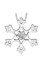 Maple Leaf Diamonds Canadian Diamond Snowflake Pendant