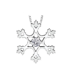 Maple Leaf Diamonds Canadian Diamond Snowflake Pendant