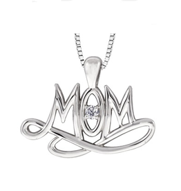 Maple Leaf Diamonds Maple Leaf Canadian Diamond Mom Pendant