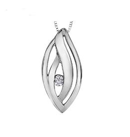 Maple Leaf Diamonds Maple Leaf Canadian Diamond Pendant