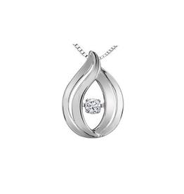 Sterling Silver (0.07ct) Dancing Canadian Diamond Pendant
