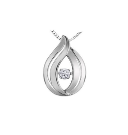 Sterling Silver Dancing Canadian Diamond Pendant