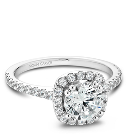 Noam Carver Noam Carver White Gold Halo Mount (0.49ct) Diamond Engagement Ring