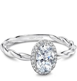 Noam Carver Bridal Diamond Mount White Gold