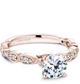 Noam Carver Bridal Diamond Mount Rose Gold