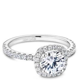 Bridal Halo Diamond Mount White Gold
