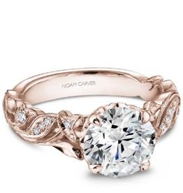 Noam Carver Noam Carver Bridal Diamond Mount Rose Gold