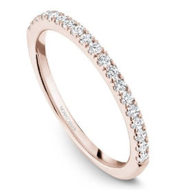 Noam Carver Rose Gold Diamond Matching Engagement Ring Band