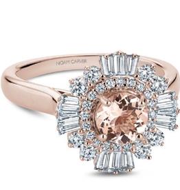 Noam Carver Rose Gold Diamond Morganite Ring