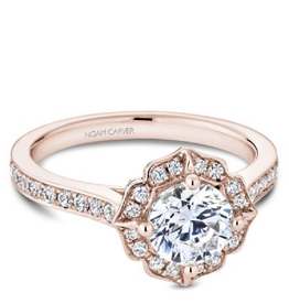 Noam Carver Noam Carver Bridal Diamond Mount Rose Gold