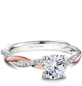 Bridal Diamond Mount Rose and White Gold