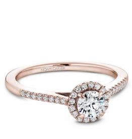 Halo Diamond Ring (0.50ct) 14K Rose Gold