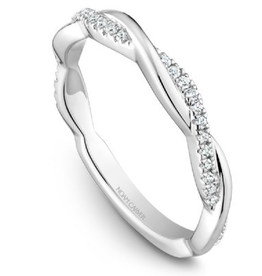 Stackable Diamond 14K White Gold Band