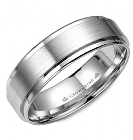 Crown Ring Flat Band (6mm)