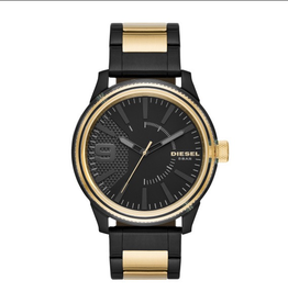 Diesel Diesel RASP Black and Gold Tone Mens Watch