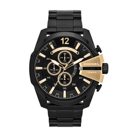 Diesel Diesel Chief Mens Black and Gold Watch