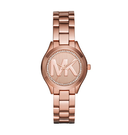 Michael Kors Michael Kors MK3549 Runaway Slim Ladies Rose Tone Watch