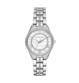 Michael Kors Mini Lauryn Pavé Silver-Tone Watch