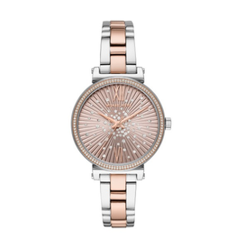 Michael Kors Michael Kors MK3972 Sofie Pavé Rose Gold-Tone and Acetate Watch