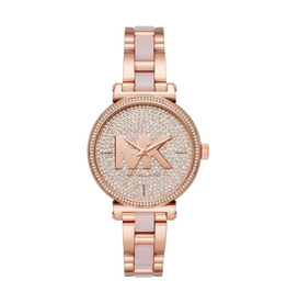 Michael Kors Michael Kors MK4336 Sofie Pavé Rose Gold-Tone and Acetate Ladies Watch