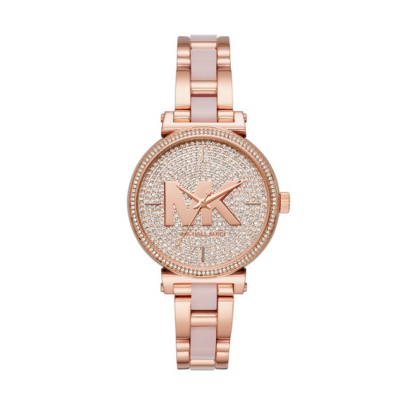3cccd805b00b Michael Kors Michael Kors MK4336 Sofie Pavé Rose Gold-Tone and Acetate  Ladies Watch ...