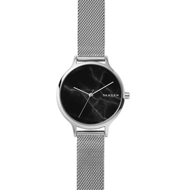 Skagen Skagen Anita Ladies Mesh Black Dial Watch