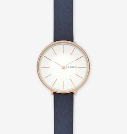 Skagen Skagen Karolina Blue Leather Ladies Watch
