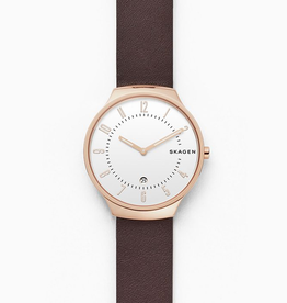 Grenen Dark Brown Leather Watch