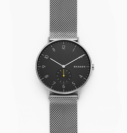 Skagen Skagen Aaren Dark Gray Steel-Mesh Watch