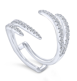 Gabriel & Co 14k White Gold Pavee Set Diamond Enhancer