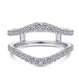 Gabriel & Co Gabriel & Co 14K White Gold (0.49ct) Pavee Set Diamond Ring Jacket / Enhancer