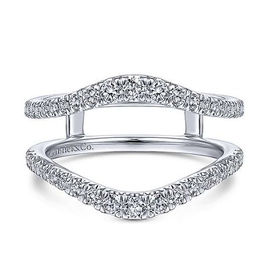 Gabriel & Co Gabriel & Co 14K White Gold (0.57ct) Pavee Set Diamond Ring Jacket / Enhancer