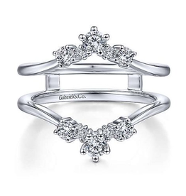Gabriel & Co Gabriel & Co 14K White Gold (0.50ct) Prong Set Diamond Ring Jacket / Enhancer