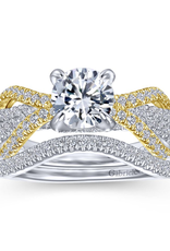 Gabriel & Co Gabriel & Co 14K White-Yellow Gold Round Diamond Mount Engagement Ring