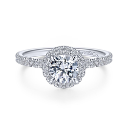 Gabriel & Co Gabriel & Co Philippa 14k White Gold Round Halo