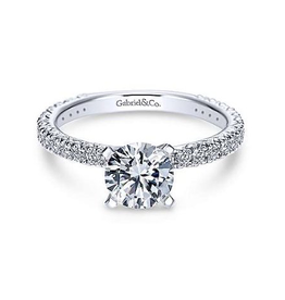 Gabriel & Co Gabriel & Co Jordan - 14K White Gold Round Staright Mount