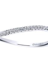 Gabriel & Co Gabriel & Co 14k White Gold Curved Wedding Band
