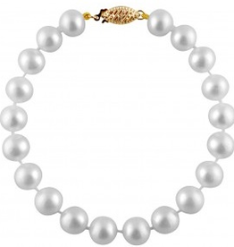 Freshwater Pearl Bracelet(8mm) 14K Yellow Gold Clasp