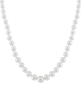 Graduated Freshwater Pearl Stranded Necklace (4-8mm) White Gold Clasp