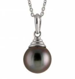 White Gold (8-9mm) Tahitian Pearl Necklace