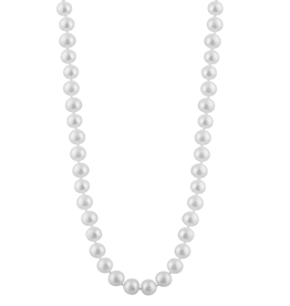 Freshwater Pearl Stranded Necklace(8-8.5mm) Yellow Gold Clasp