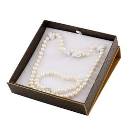 Pearl (7-8mm) Earrings, Necklace and Bracelet Freshwater Boxed Gift Set
