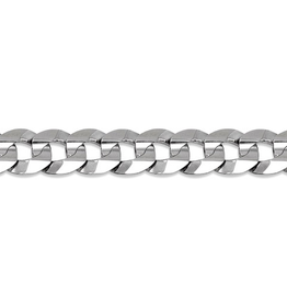 Sterling Silver (8mm) Curb Bracelet 8.5""