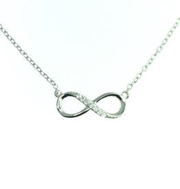 Sideway Infinity Necklace