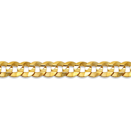 "Curb (4.7mm) 22"" Yellow Gold Chain"