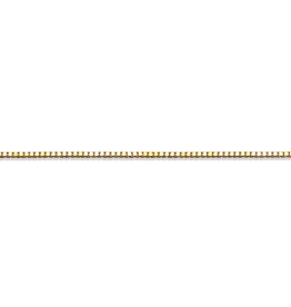 "Box (1.0mm) 20"" Yellow Gold Box Chain"